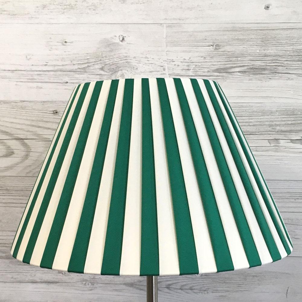 cream green striped lampshade